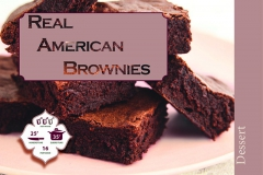 Brooke's brownie recipe card, front